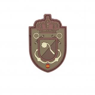 Spanische Kronen Wappen Abzeichen Siegel Airsoft 3D Rubber Patch 8x5cm #29035