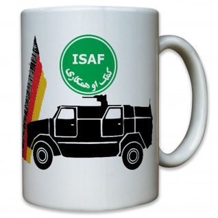 ISAF Ausland Auslandseinsatz Deutschland Transport Fahrzeug - Tasse #12341