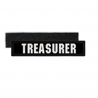 Namenspatch Treasurer Schatzmeister 1% Outlaw Klett MC Kutte Uniform #31263