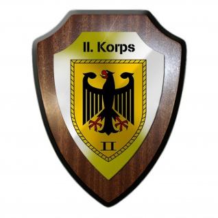 II Korps BW Heer Ulm Kompanie Einheit Militär Abzeichen Wappenschild #19975
