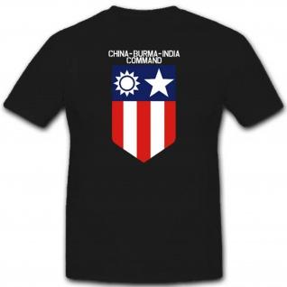 Chinas Burma India Command Armee Einheit Militär Kommando Wk - T Shirt #3072