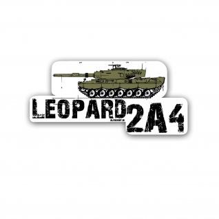 Leopard 2A4 Aufkleber Leo Panzer Bundeswehr 20x9cm A5388