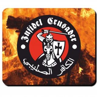 Crusader Infidel Ritter Mittelalter Wappen Emblem Abzeichen- Mauspad #6125