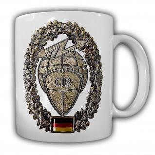 Tasse Barettabzeichen CIR Cyber und Inormationsraum Bundeswehr BW#22124