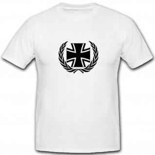 BW Kreuz und Kranz EK Balkenkreuz Bundeswehr Deutschland - T Shirt #5268