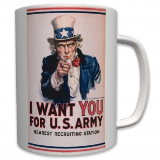 Militär Us Army Uncle America I Want You Marine Corps Usa - Tasse #6434