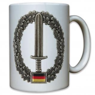 KSK Abzeichen Bundeswehr Barett Wappen Eichenlaub Bataillon - Tasse #9552