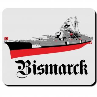 Bismarck Wh Marine Schiff Schlacht Boot Ozean Atlantik - Mauspad PC #16595