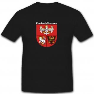 Ermland Masuren Polen Deutschland Preußen Wappen Abzeichen - T Shirt #6810