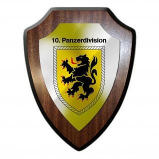 10 Panzerdivision PzDiv Bw Heer Einheit Kompanie Militär Wappenschild #19858
