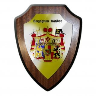 Wappenschild / Wandschild / Wappen Herzogtum Ratibor Wappen Emblem - #25399