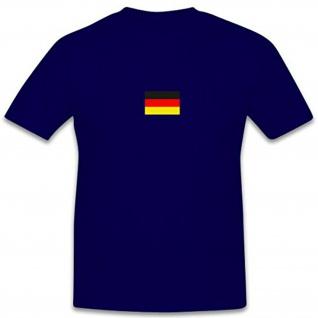 Deutschland Fahne Bundesrepublik Bundeswehr Wappen Flagge - T Shirt #7763