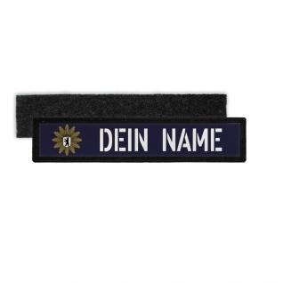 Patch Namens-Schild Polizei Berlin Klett Streifen personalisiert Namen #36081
