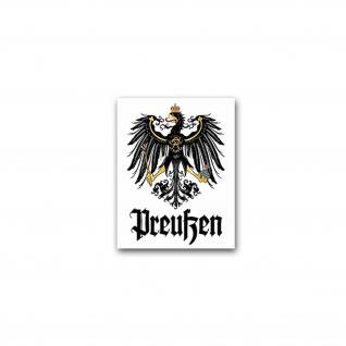 Aufkleber/Sticker Preußen Adler Friedrich der Große Deutschland 6x7cm A2565