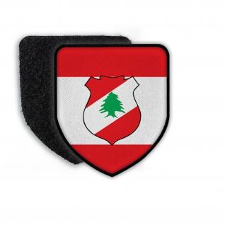 Patch Landespatch Libanon Beirut Aoun Saad Hairi Wappen Aufnäher Flagge#21944