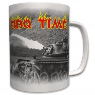 Militär Bbq Barbecue Time Zeit Us Armee Panzer Flammen Wk - Tasse #6378