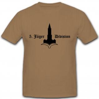 5 JgDiv Jägerdivision WH WK Emblem Wappen Abzeichen Bundeswehr - T Shirt #3043