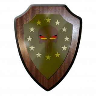 Wappenschild Skull Europa Death Skull Schädel Flagge Einheit Militär #30588