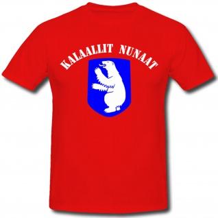 Kalaallit Nunaat Grönland Fahne Flagge Wappen Abzeichen Emblem Eisbär - T Shirt #478