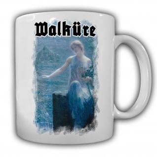 Waküre Germanen nordischen Mythologie Todesengel - Kaffee Tasse #13698