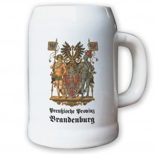 Krug / Bierkrug 0, 5l - Preußische Provinz Brandenburg Weimarer Landeswappen#9476