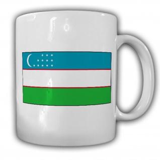 Tasse Usbekistan Fahne Flagge Kaffee Becher #13968