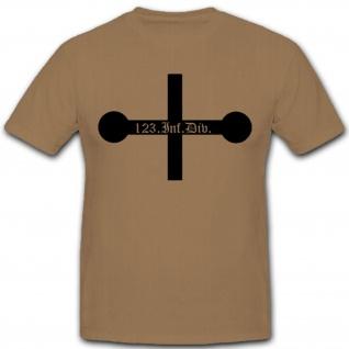 123 Infdiv 123 Infanterie Division Wh Wappen Abzeichen Emblem T Shirt #3052