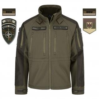 KFOR Veteranen Kosovo Tactical Softshell-Jacke BW Bundeswehr Heer #32489