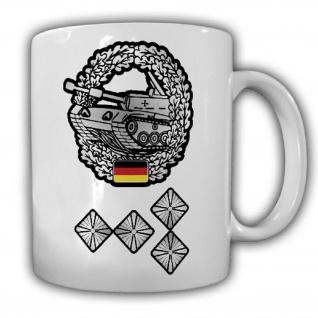 Tasse Bundeswehr Panzer StHptm Stabshauptmann Bundeswehr Offizier #25535