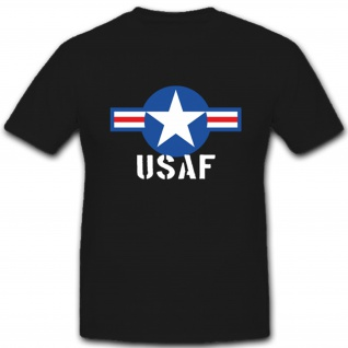 Usaf Us Air Force Isaf Luftwaffe Amerika United States Logo - T Shirt #1536