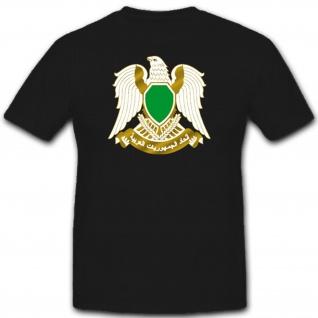 Lybien Wappen Abzeichen Emblem Arabisch Lybia - T Shirt #1911