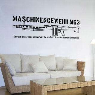 Mg3 Daten Maschinengewehr 3 Standardmaschinengewehr Wandtattoo 120x39cm #A4959