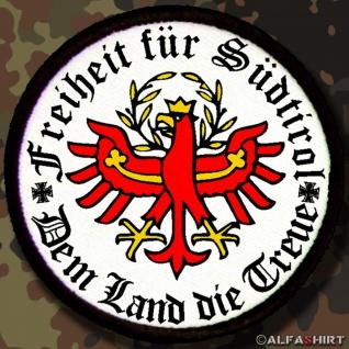Patch / Aufnäher - Freiheit für Südtirol Dem Land die Treue #7144