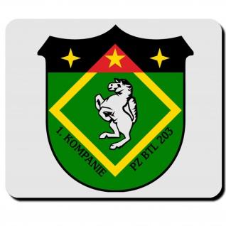 1 PzBtl 203 Wappen Abzeichen Emblem Militär Bundeswehr Panzerbataillon #4406m