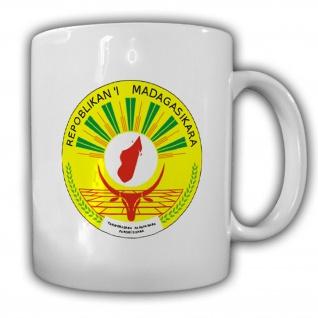 Madagaskar Siegel Emblem Wappen Inselstaat Republik Becher Tasse #13731