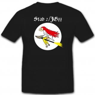 Stab 2 Jagdgeschwader 77 Luftwaffe Jg77 Militär WK WH Abzeichen T Shirt #2479