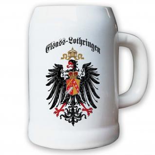 Krug / Bierkrug 0, 5l - Elsass-Lothringen Provinz Geschichte Historie #9407