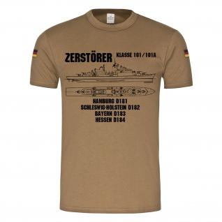 BW Tropen Zerstörer Klasse 101-101A Marine Bundesmarine Bundeswehr Schiff #24834