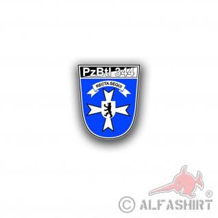Aufkleber/Sticker PzBtl 344 Panzerbataillon BW Wappen Abzeichen 7x6cm A3152