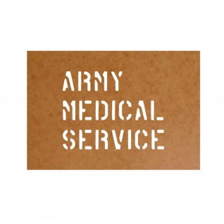 Army Medical Service stencil Schablone Ölkarton Lackierschablone 9, 6x12cm #15193