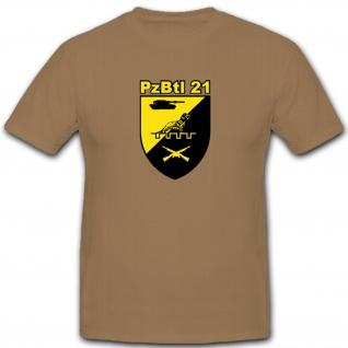 PzBtl 21 Panzerbataillon 21 Bundeswehr Bw Wappen Abzeichen Emblem T Shirt #4876