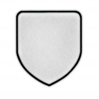 Aufnäher Wappen Patch Rohling Sublimationsdruck Bedruckbar Klett 65x75mm #16891