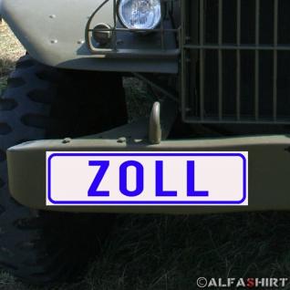 Magnetschild Zoll Polizei für KFZ Fahrzeuge Kübel Iltis Wolf #A168