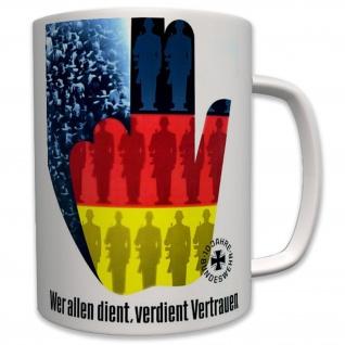 Militär Bundeswehr Jubiläum Deutschland 10 Jahre - Tasse Becher Kaffee #6432