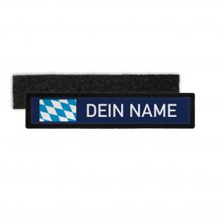 Namenschild Navy Bayern Dein Name Deutschland Freistaat Oktoberfest Patch#31973