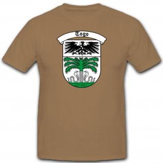 Deutsche Kolonie Togo Afrika Wappen Emblem Logo Schutztruppen T Shirt #2561