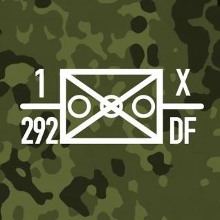 Aufkleber/Sticker 1 Jägerbataillon 292 Französische Brigade BW 13x32cm A645