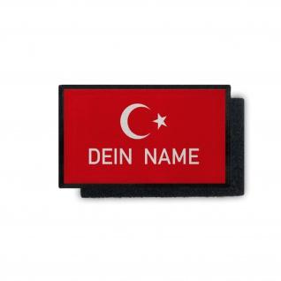 Türkei Name rot Osmane Halbmond personalisiert Aufnäher Patch 7, 5x4, 5cm #30926