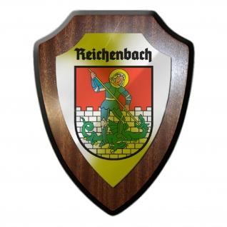Wappenschild / Wandschild - Reichenbach Eulengebirge Polen Dzierzoniów #25653