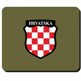 Kroation HRVATSKA Wappen Fahne Flagge Abzeichen Mauspad #5219